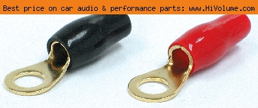 AudioPipe - 4 Gauge Ring Terminal - Black