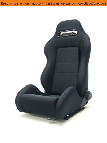 Street Imports - Pair of Ronin Cloth Seats - Black