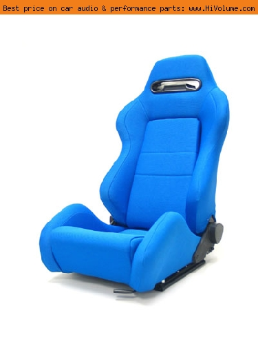 Street Imports - Pair of Ronin Cloth Seats - Blue