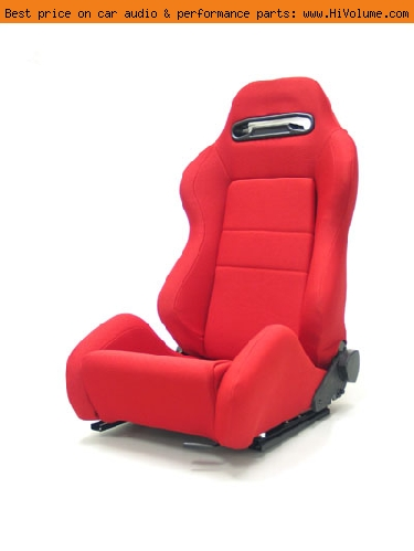 Street Imports - Pair of Ronin Cloth Seats - Red
