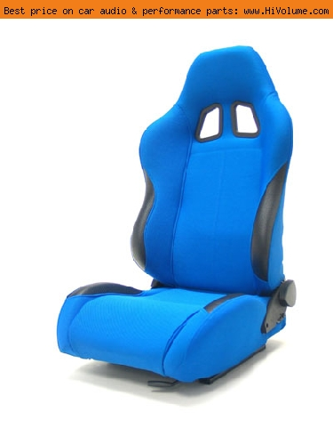 Street Imports - Pair of Samurai Cloth Seats - Blue