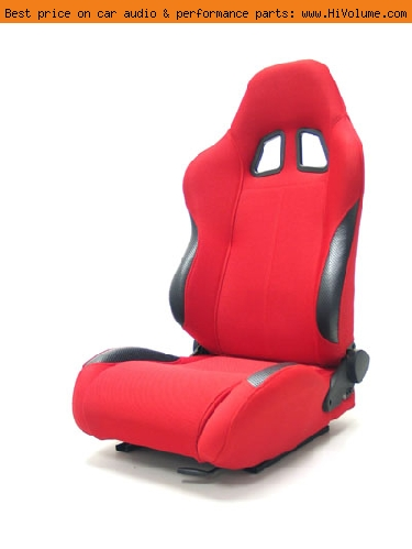 Street Imports - Pair of Samurai Cloth Seats - Red