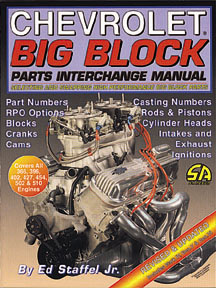 Cartech (SA Design) - Chevy Big Block Parts Interchange Manual - Paperback