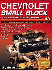 Cartech (SA Design) - Chevy Small Block Parts Interchange Manual - Paperback